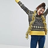 ASOS Holidays Sweater with Vintage Fairisle With Roll Neck