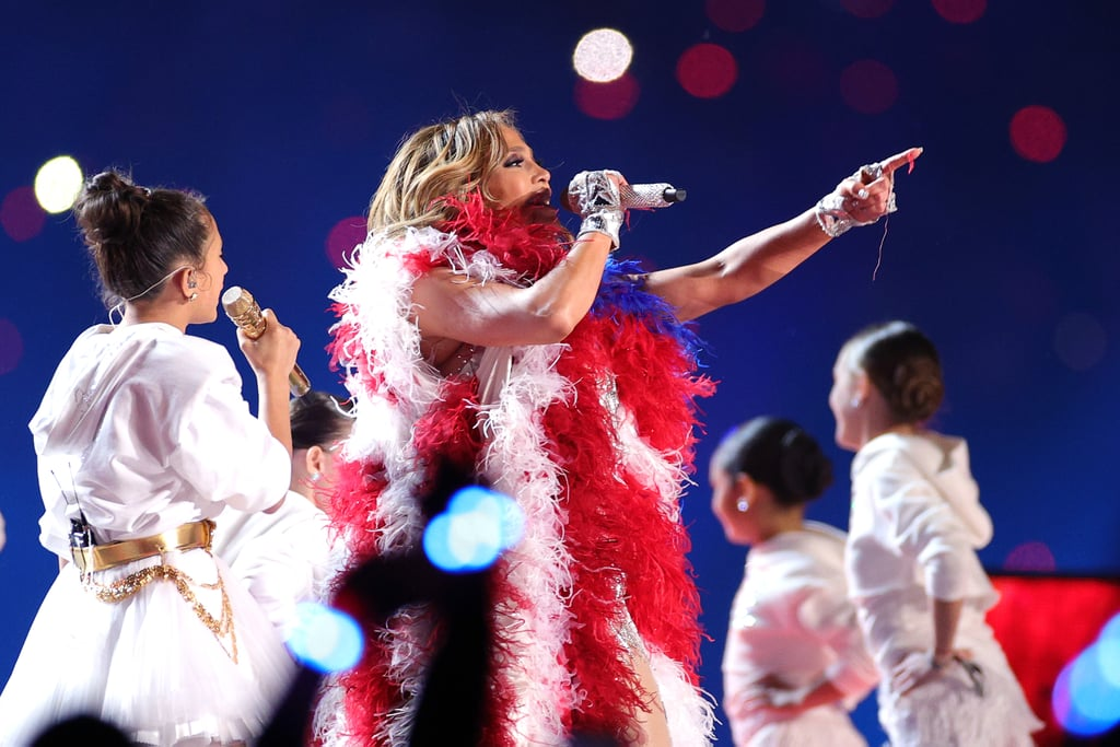 "Jennifer Lopez and Shakira might have slipped a powerful political statement into their halftime show at the 2020 Super Bowl. While performing a moving rendition of ""Let's Get Loud,"" several young singers, including Lopez's 11-year-old daughter, appeared on stage and in the field in circular cages.  For many, the striking imagery appeared to be a commentary on the current administration's family separation policy and the ensuing child migration crisis. Perhaps solidifying the political moment was the fact that immediately after, Lopez draped herself in the Puerto Rican flag as she covered Bruce Springsteen's ""Born in the USA.""  Following the big game, Lopez offered some confirmation in the caption for a behind-the-scenes video she shared on Instagram. ""All I want my girls, the little girls on stage with me and all over the world to know is how to use their voices and be proud of everything they are. We are proud to recognize that all of us together are what makes this beautiful country truly great,"" she wrote. (It's worth noting that Lopez's original caption explicitly referred to ""walls"" and ""cages"" until she changed it some time after.) Missed the subtle symbolism? See photos and read a few reactions ahead.      Related:                                                                                                           Fans Are Still Reeling From Jennifer Lopez and Shakira's Electric Halftime Show"