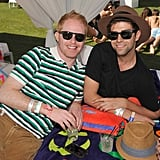 Jesse Tyler Ferguson struck a stripy pose with his guy Justin Mitika at the Lacoste Live! bash.
