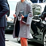 She Knows a Statement Coat Can Make an Impact
