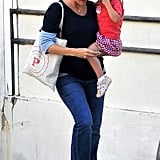 Jennifer Garner carried Seraphina Affleck and her baby bump in LA.