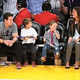 Leo, Mark, Hilary, and More Make Up a Star-Studded Lakers Crowd