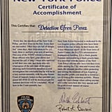 """Someone became superlazy while writing up this """"authentic"""" certificate."""