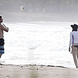 We got a peek at a shirtless Justin Timberlake in July when he and fiancée Jessica Biel played beachside ping-pong as they vacationed in Puerto Rico.