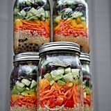 Tofu and Quinoa Mason Jar Salads