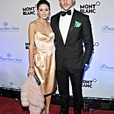Olivia Palermo attended an event with Johannes Huebl.