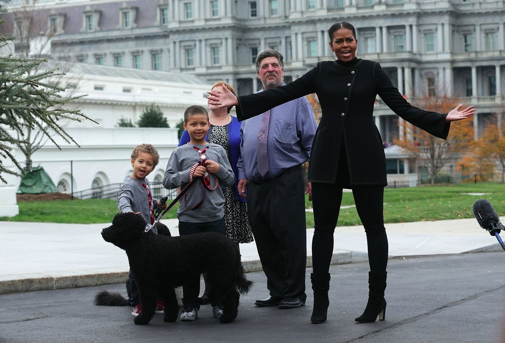 Michelle Obama's Mid-Calf Boots November 2016