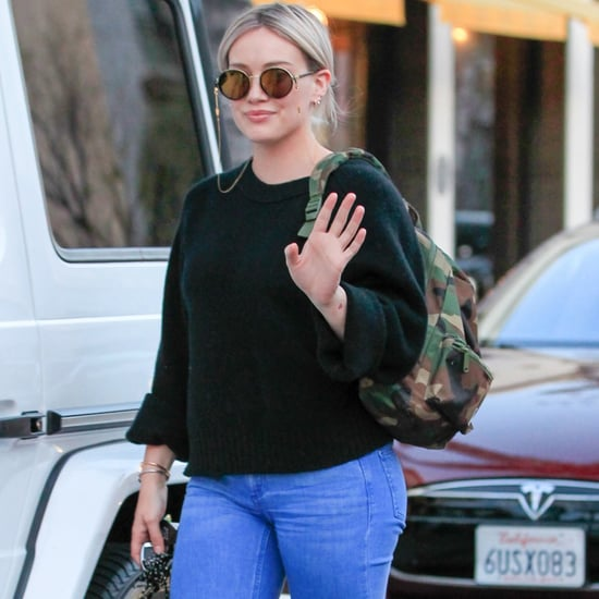 Hilary Duff Wearing Bell Bottoms in LA Pictures