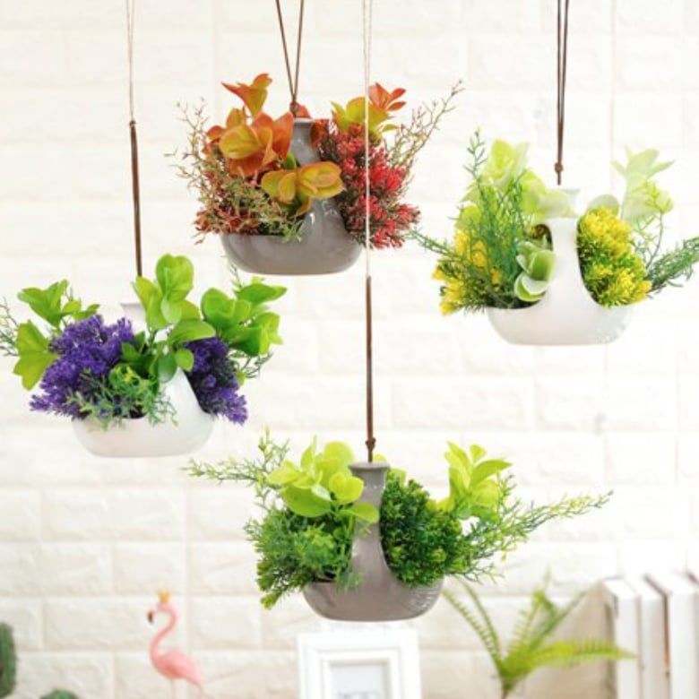 Hanging Artificial Flowers And Plants Best Walmart Home Decor