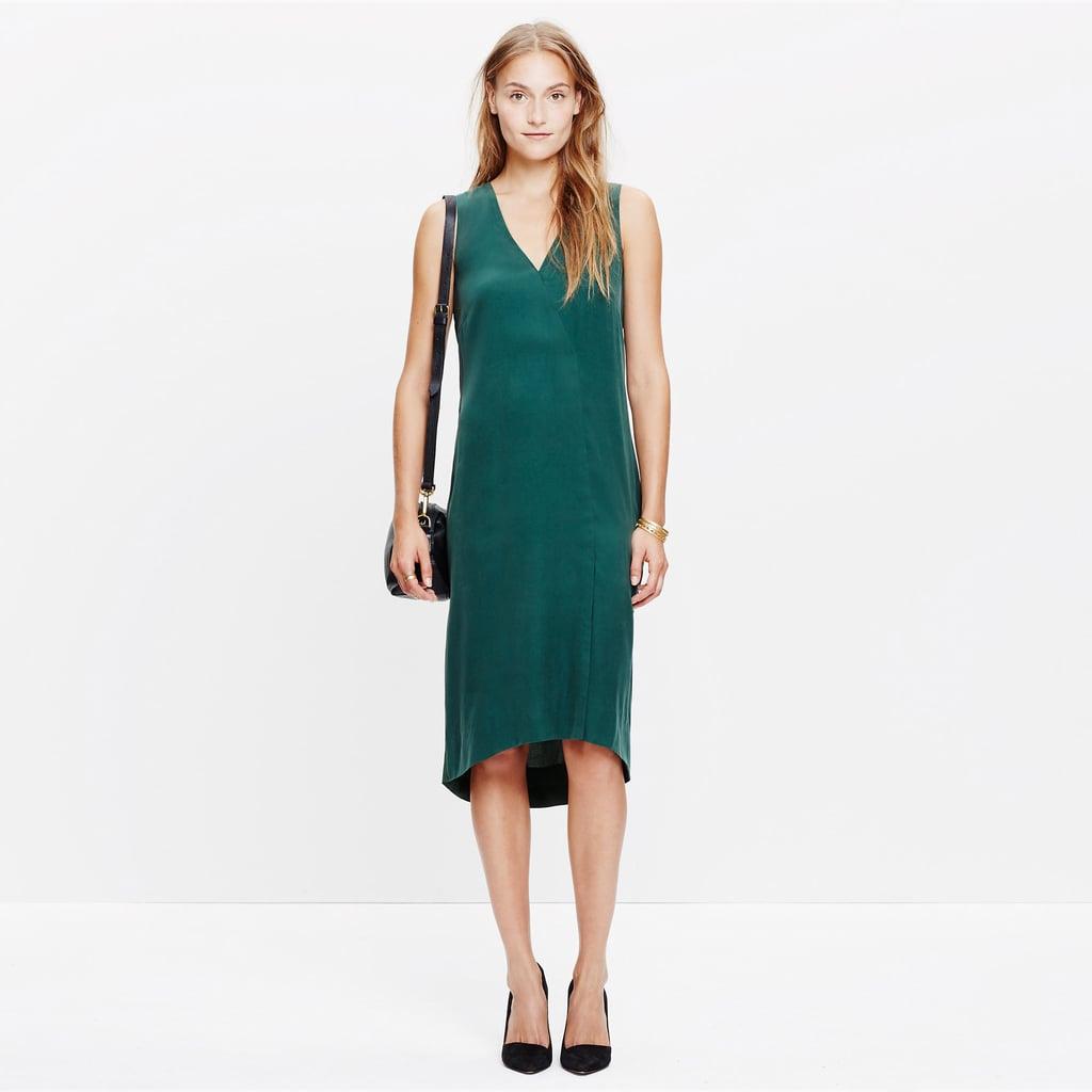 Madewell Deep-V Dress ($128)