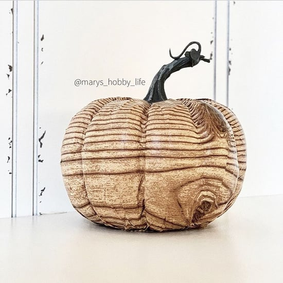 This DIY Faux Wood Pumpkin Decoration Is So Easy to Make
