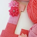 Add Personality With a Yarn-Wrapped Ombré Monogram