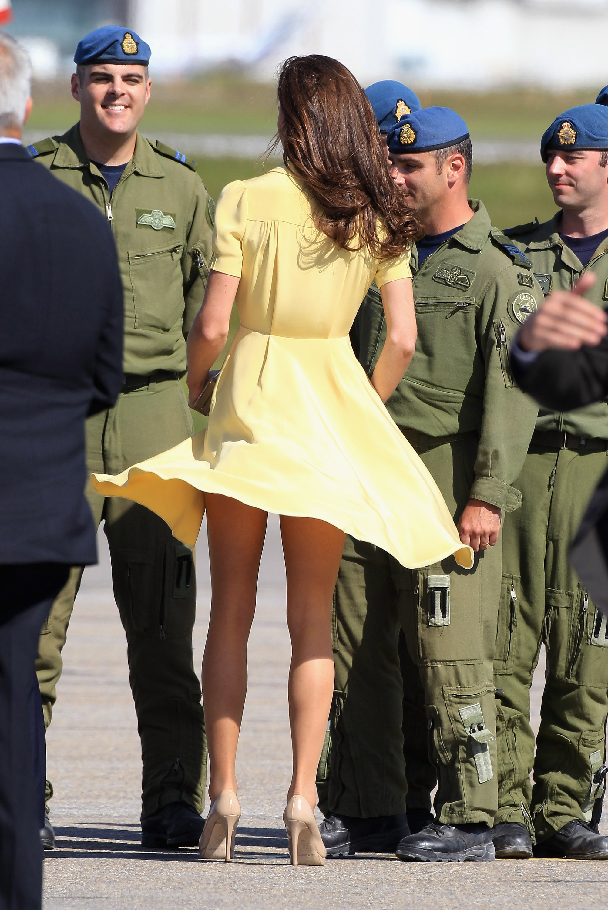 Kate almost suffered a wardrobe malfunction!