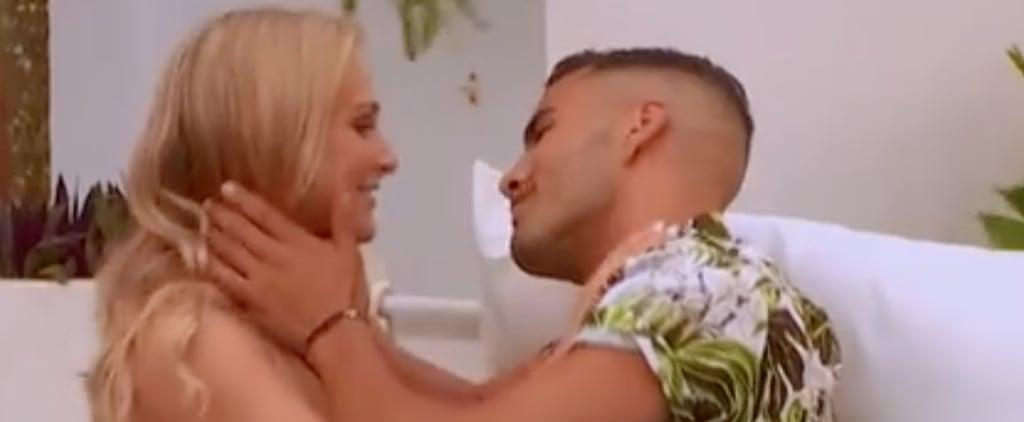 Maurice and Jessie First Kiss Love Island Australia
