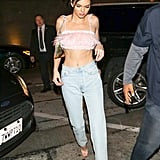 Kendall Jenner's Pink Feather Crop Top