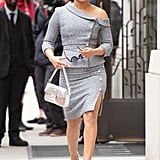 Priyanka Chopra Wearing a Fendi Baguette in New York City, 2019