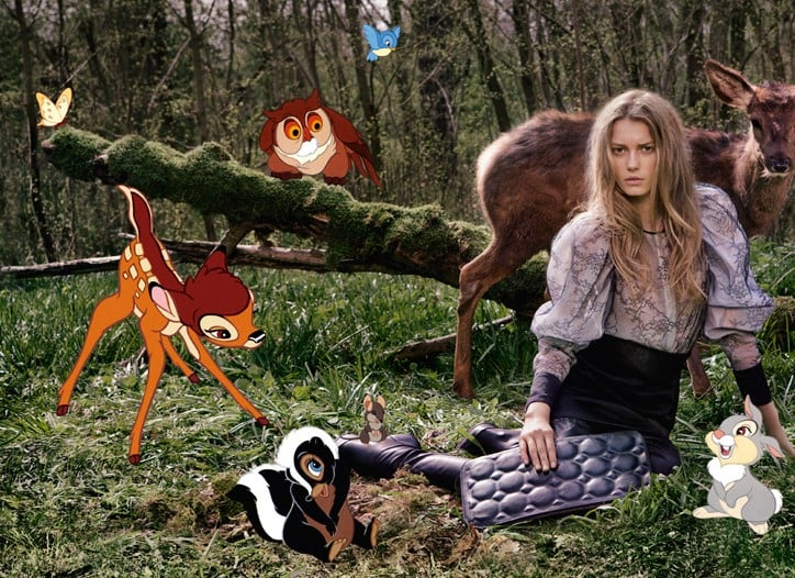 Stella McCartney Finds a Place for Bambi and Friends in Her Fall 2009 Ad Campaign