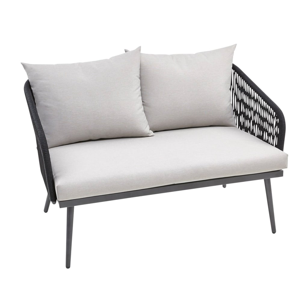Helena Deluxe Black Settee With Cushions