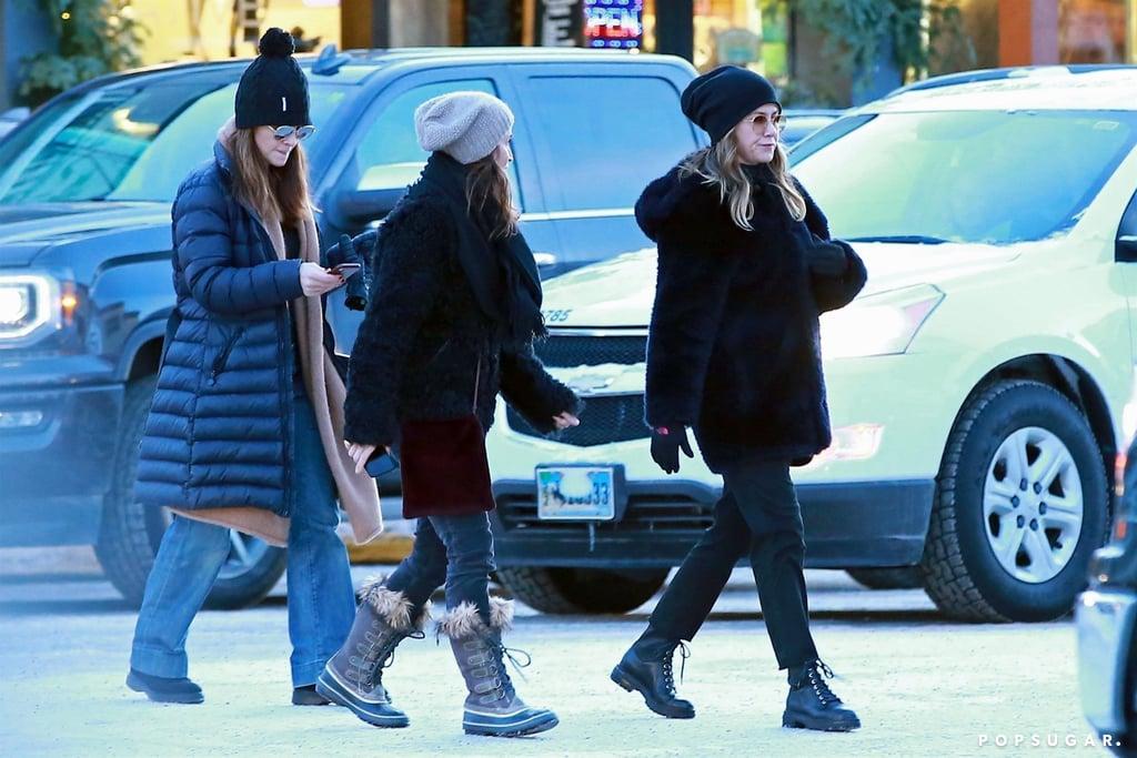 Jennifer Aniston Black Combat Boots
