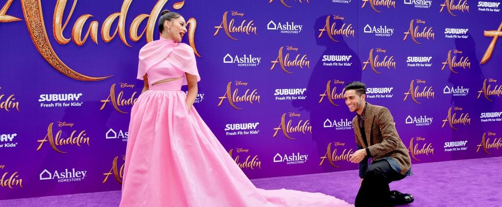 Naomi Scott's Pink Brandon Maxwell Dress at Aladdin Premiere