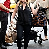 Hilary Duff carried a bag as she stepped out in NYC.
