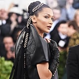 Bella Hadid's Braided Bun in 2018