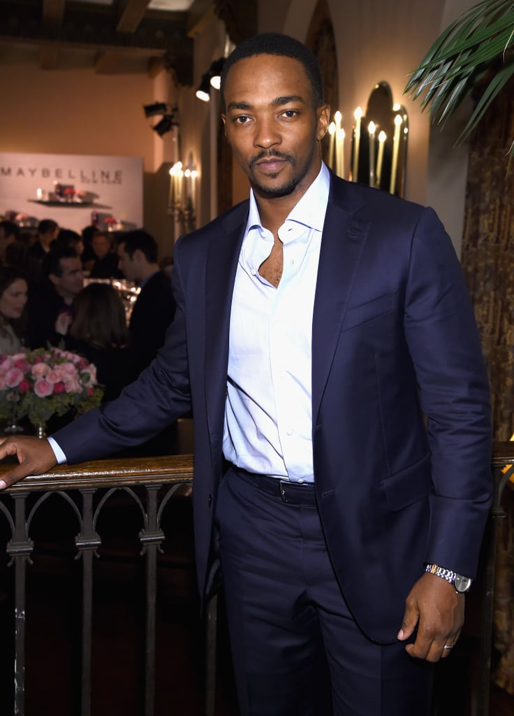 Anthony Mackie can sure wear the hell out of a suit! Whether he's lighting up a red carpet with his mile-wide smile or showing off his buff physique on the big screen, there's no denying the actor's sexy good looks. In honor of Anthony's upcoming return as Falcon in Captain America: Civil War, we're looking back at his hottest moments of all time. Keep reading to see them now, and then get a sneak peek at Captain America before it hits theaters this Friday.