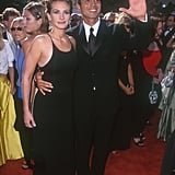 It was all about the strappy back of Julia's formfitting gown at the 1999 Emmy Awards.