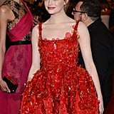 Emma Stone Dons Ladylike Lanvin For the Met Gala