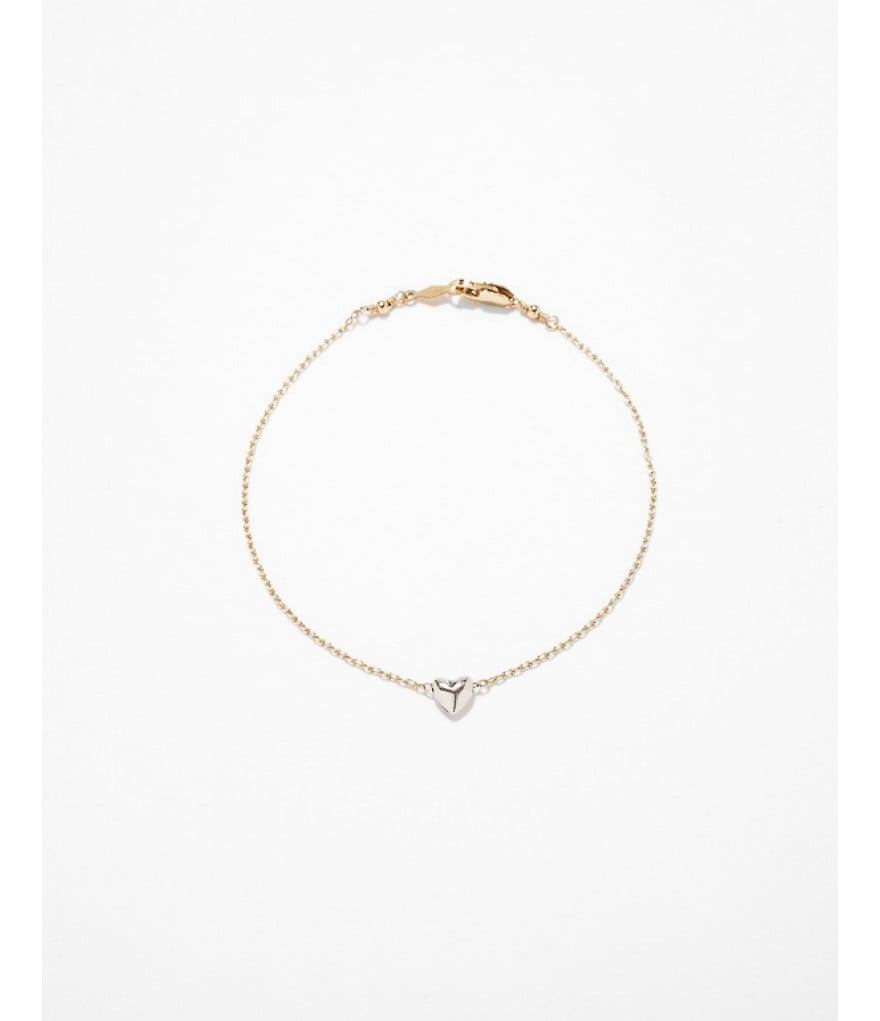 Speaking of dainty, this delicate Jenny Sheriff 2-Tone Mini Crush Bracelet ($78) will look supersweet on its own or play well in an arm party.