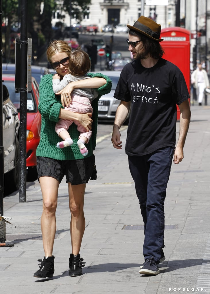 Sienna Miller and Tom Sturridge took their daughter, Marlowe, to lunch at the Ritz hotel in London.