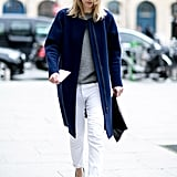 Navy, white and grey get our tick of approval.