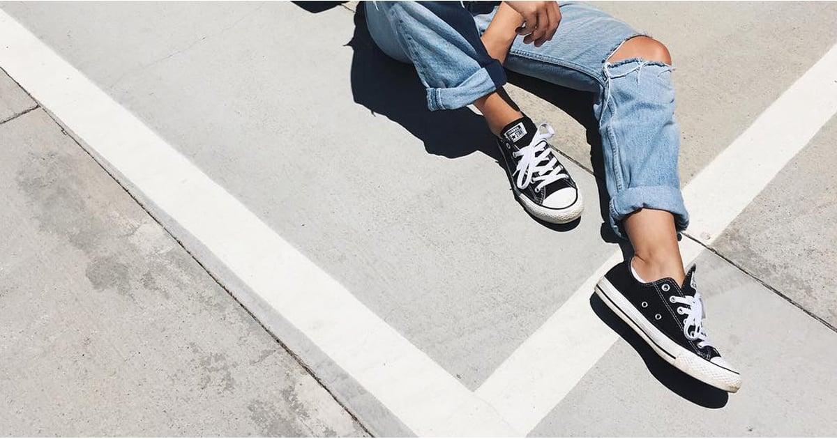 Black Sneakers Outfit Ideas | POPSUGAR