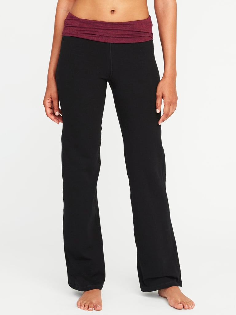Wide-Leg Roll-Over Yoga Pants | Best Workout Clothes at