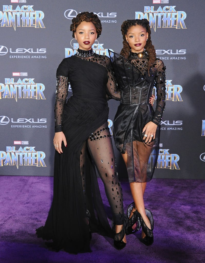 Chloe x Halle at the Black Panther Premiere in 2018