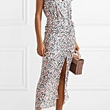 Veronica Beard Brynlee Wrap-Effect Ruched Floral-Print Midi Dress