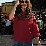 Katie Holmes out in honor of National Dance Day.