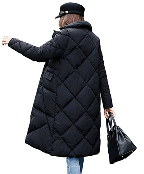 Gihuo Quilted Puffer Coat