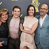 Adam Devine, His Parents, and Chloe Bridges
