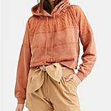 Free People Piper Pullover Multimedia Cropped Hoodie