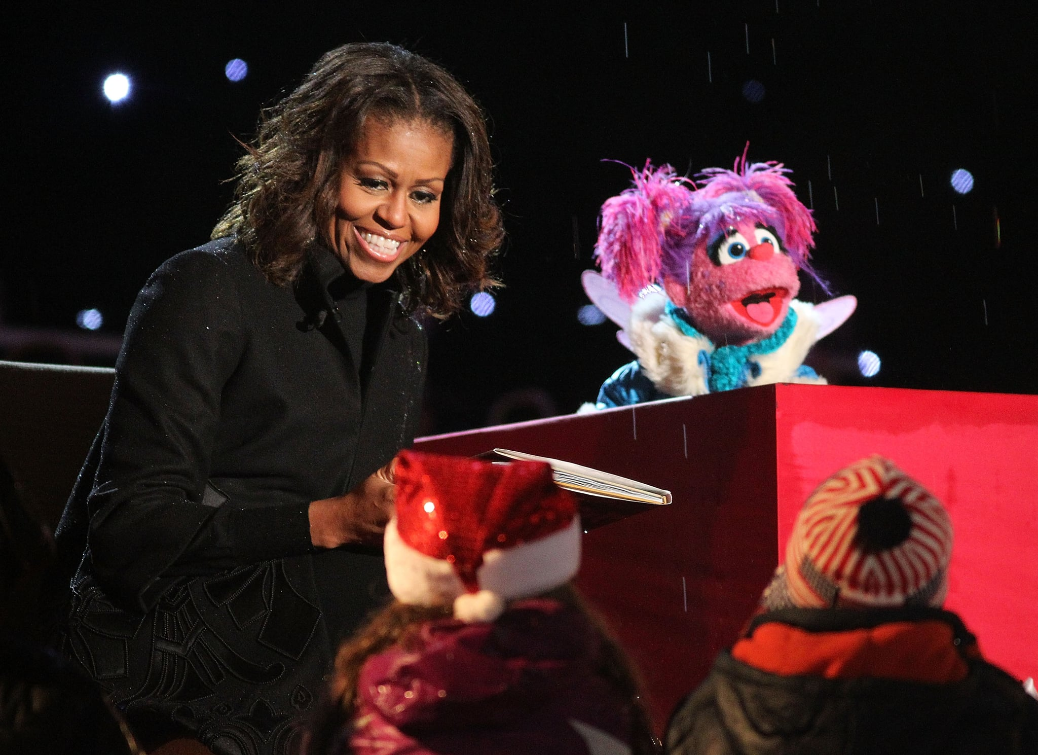 Or Michelle Reading Christmas Stories With a Muppet?