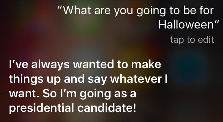 Siri Halloween Answers