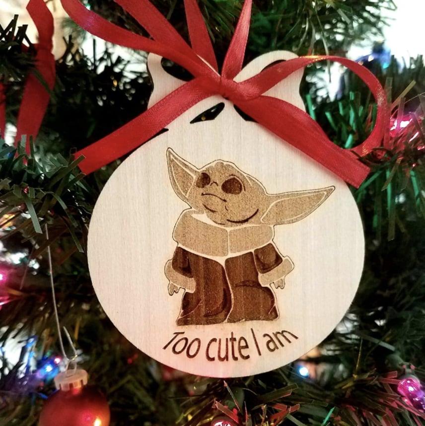Baby Yoda Ornament From Knots and Knots on Amazon