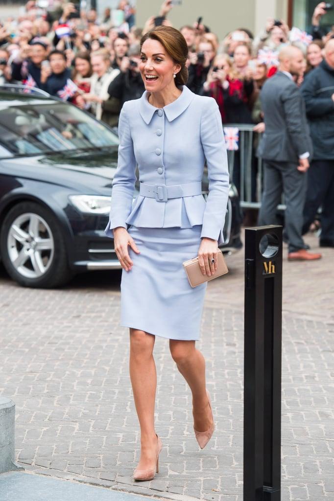 Kate Middleton's Blue Catherine Walker Suit October 2016