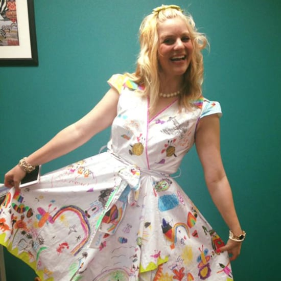 Teacher Creates DIY Dress With Students' Artwork