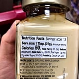 Trader Joe's Organic Maple Butter Nutritional Information