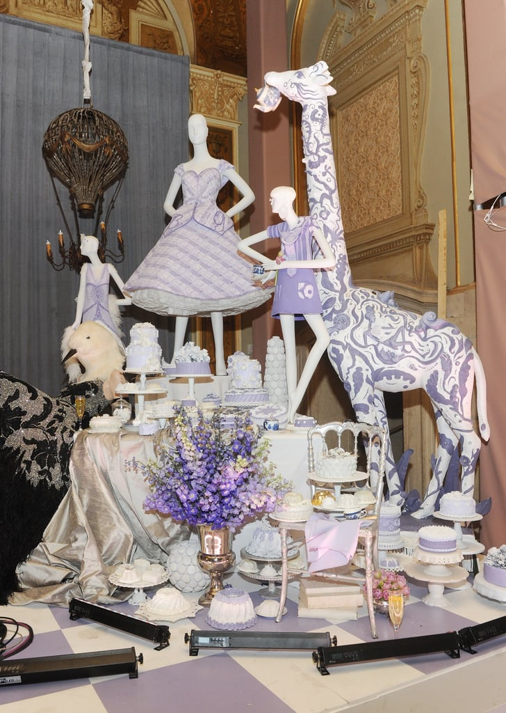 The decor was beautifully whimsical — we especially love that purple giraffe.
