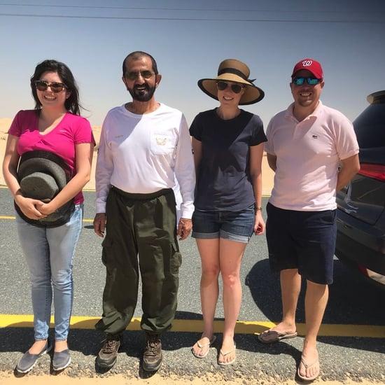 سموّ الشيخ محمد ينقذ سيّاحاً عالقين في صحراء دبي