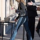Jennifer Aniston Wearing Bootcut Jeans