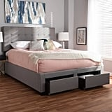 Tibault Modern and Contemporary Fabric Upholstered Storage Bed